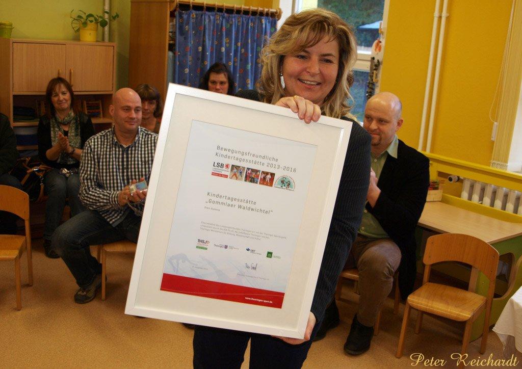 Gommlaer Kindergarten »Waldwichtel« mit Qualitätssiegel ausgezeichnet