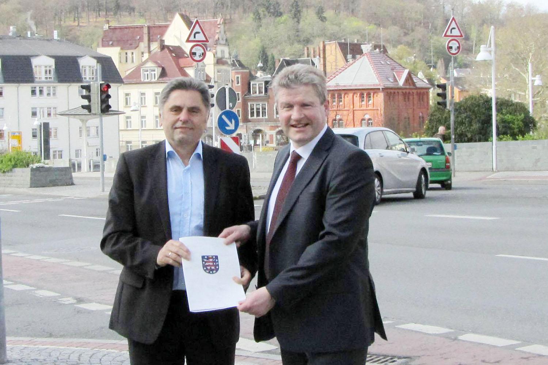 Greizer Bürgermeister Gerd Grüner