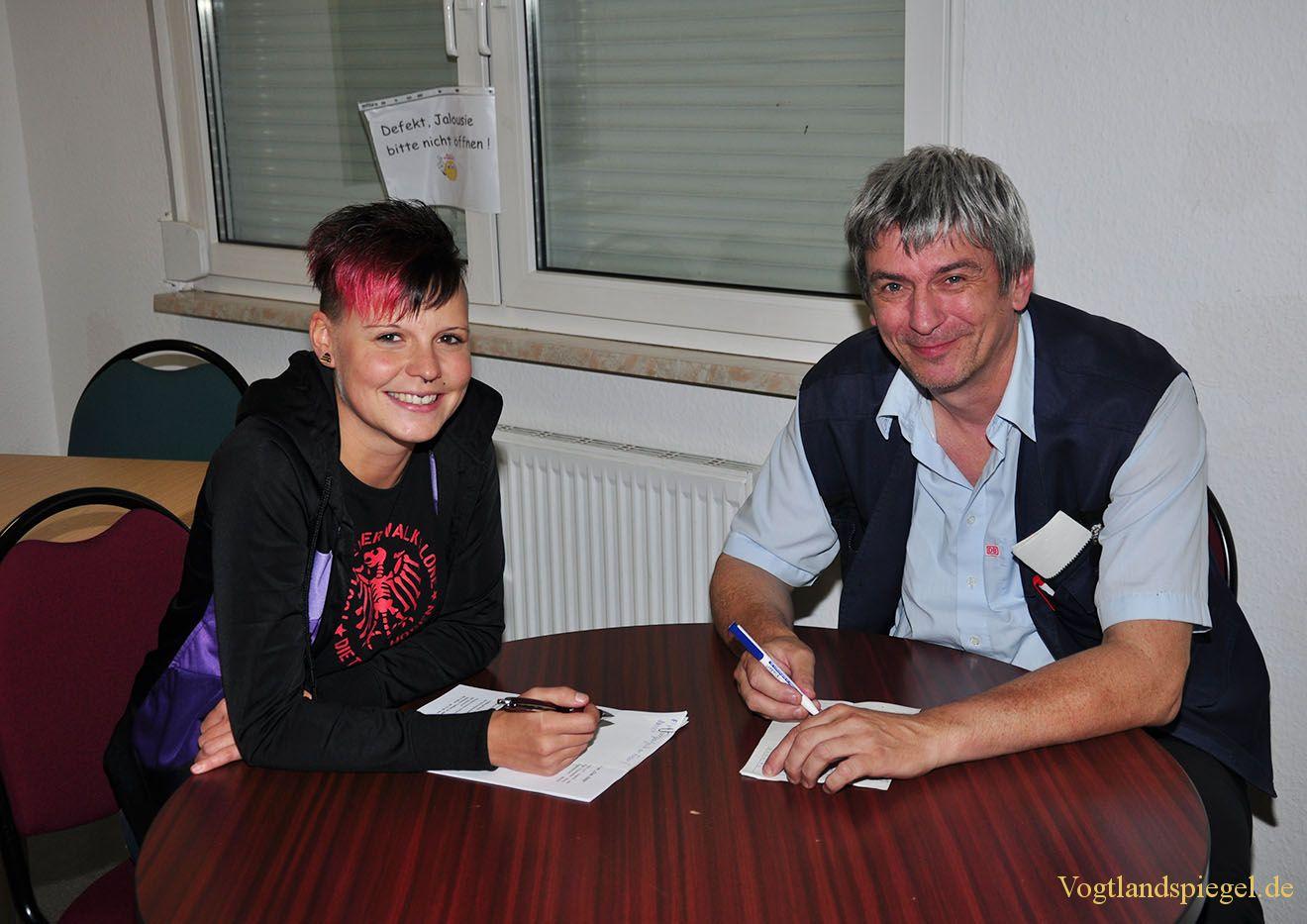 Jugendarbeiterin Stephanie Schrader und Ralf Herrmann