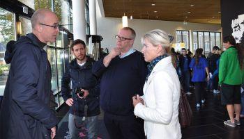 Glasfassade der Vogtlandhalle Greiz als Referenzobjekt