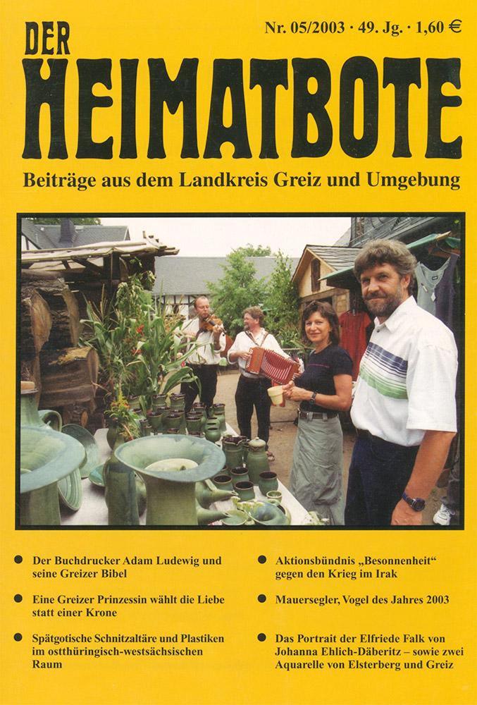 Greizer Heimatbote Mai 2003