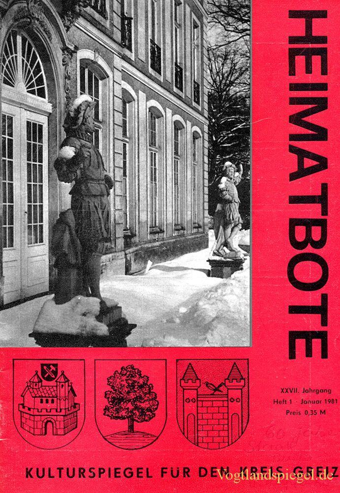 Greizer Heimatbote Januar 1981