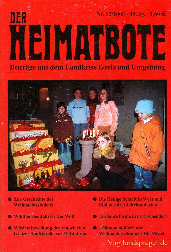 Greizer Heimatbote Dezember 2003