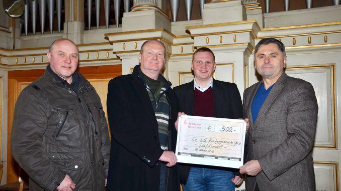Greizer Kirchgemeinde erhält 500 Euro für Orgelrestaurierung