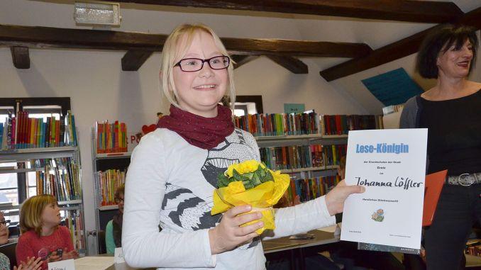 Johanna Löffler heißt die Lesekönigin 2016