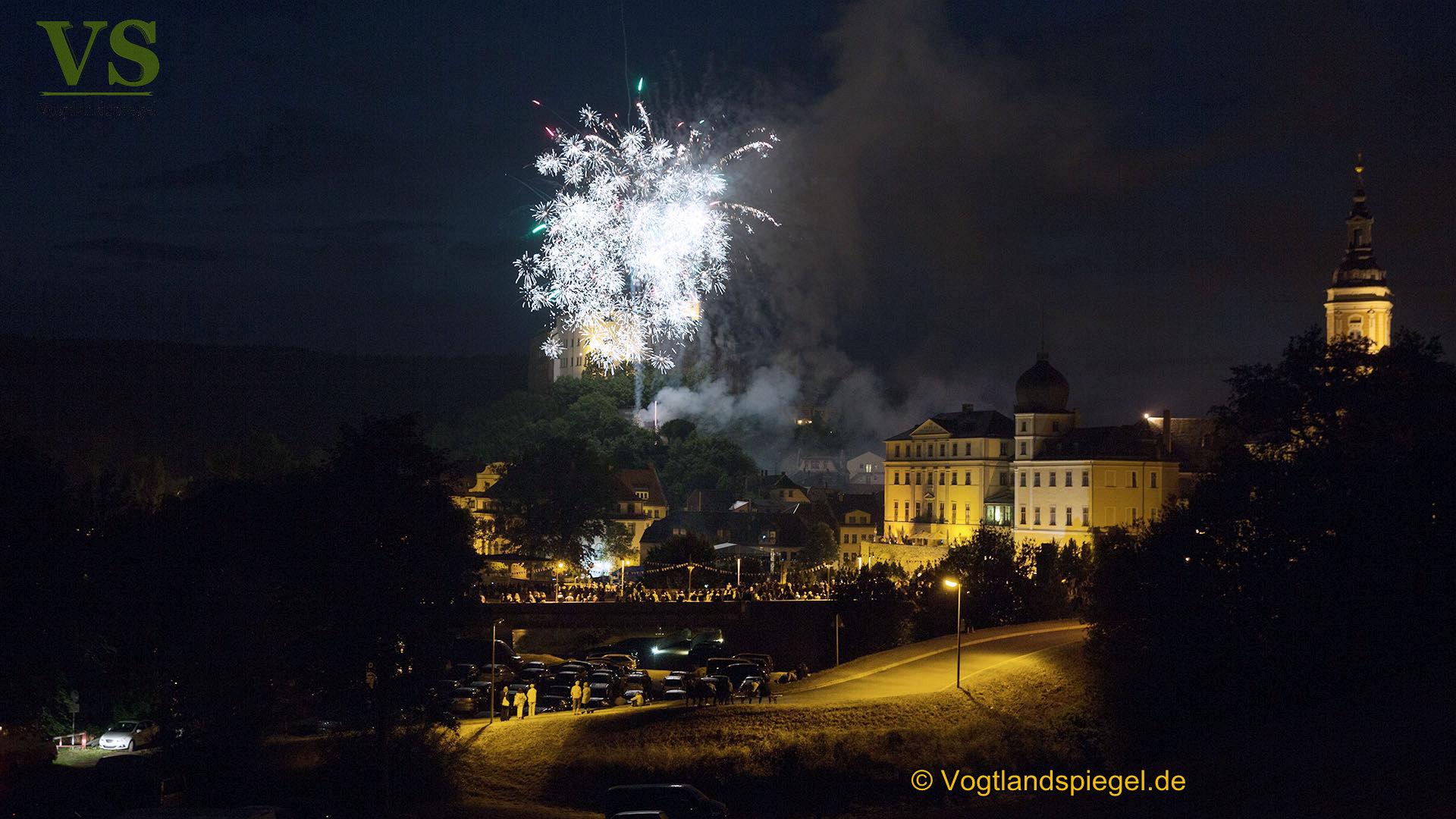 Abschlussfeuerwerk des 25. Greizer Park-und Schlossfestes