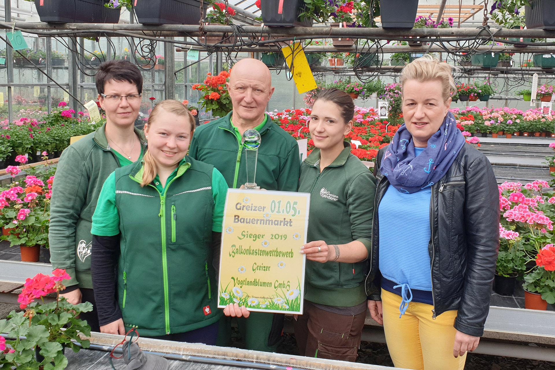 Greizer Bauernmarkt: Sieger des Balkonkastenwettbewerbs geehrt