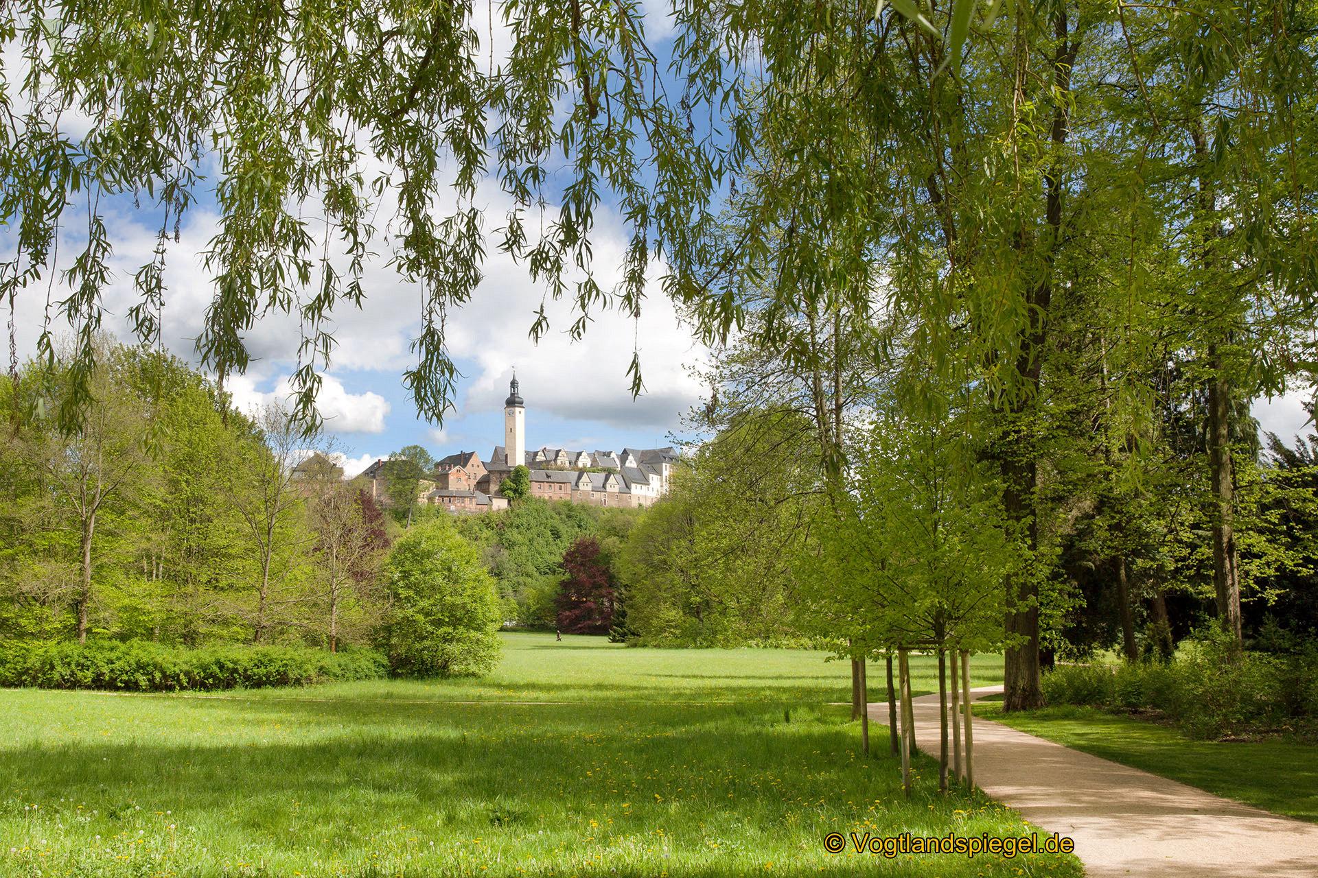 Blick zum Oberen Schloss Greiz