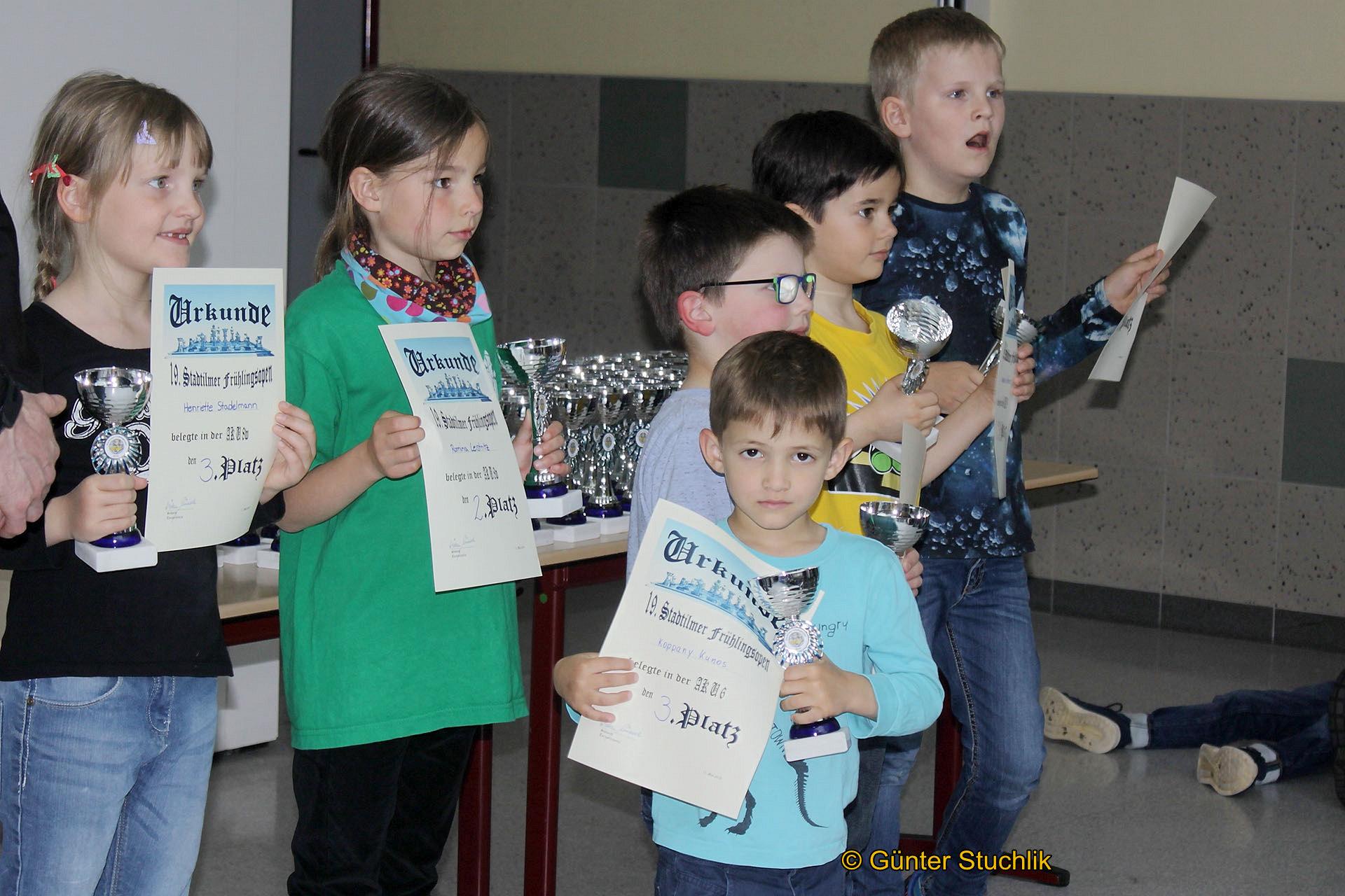 Pokalgewinne der Greizer Schachlöwen Kötöny und Koppany in Stadtilm.