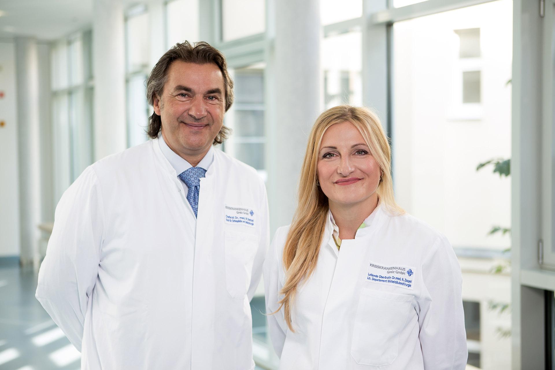 Dr. med. Mario Dietzel und Dr. med. N. Zaspel.