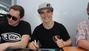 Der erst 16-jährige Mannheimer Dirk Geiger feiert auf dem Sachsenring sein Grand Prix-Debut