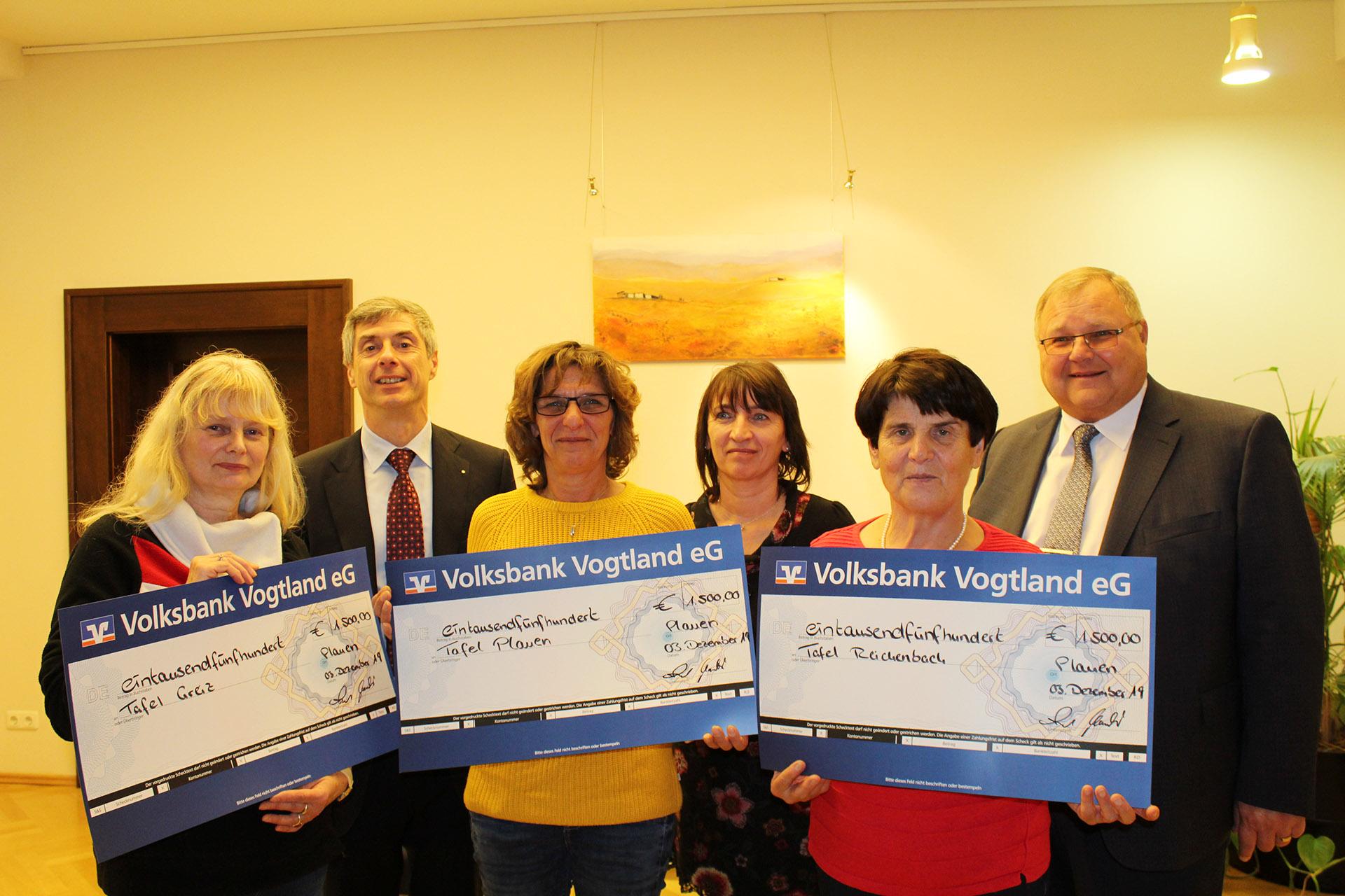 Volksbank Vogtland eG spendet an vogtländische Tafeln