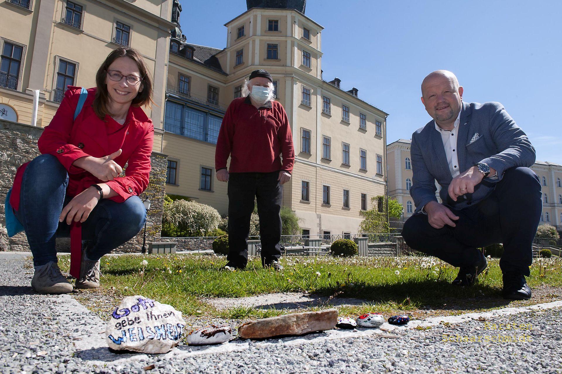 Schlossgarten wird Quartier für Steinschlange