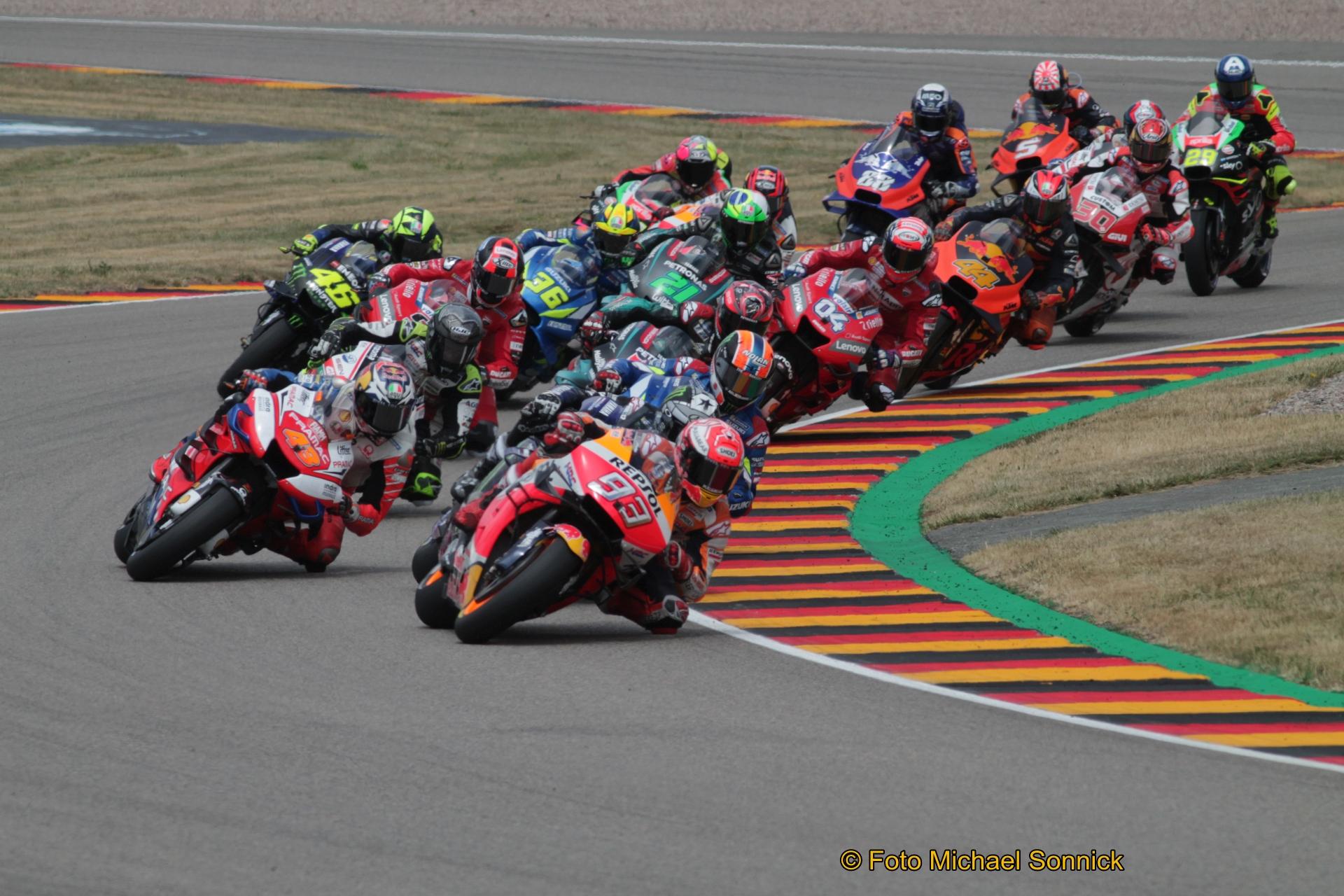 Die Motorrad-WM möchte am 19. Juli in Jerez/Spanien wieder fahren