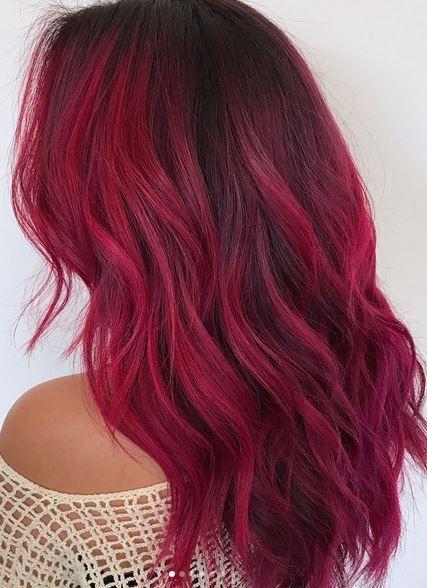 Tendance Couleur De Cheveux Cool Magenta Toned Red Hair