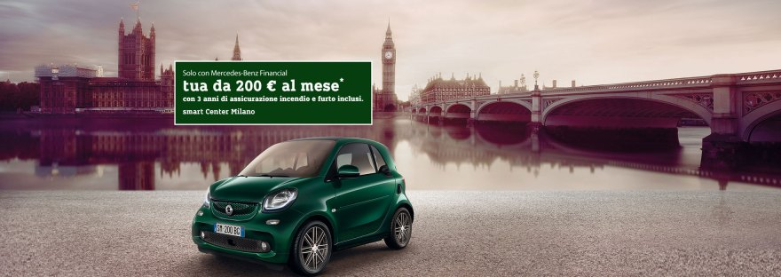 Smart British Green Vogue Cars Milano