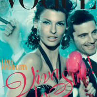 Linda Evangelista Throughout the Years in Vogue