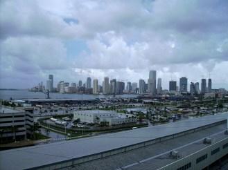 vue sur Miami du bateau