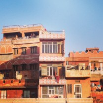 The pink city: salmon, apricots, ochre, peach and tangerine in Jaipur.
