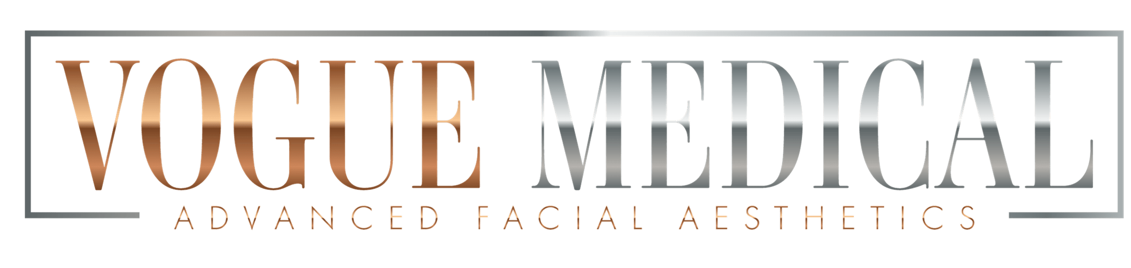Vogue Medical Logo Dermal Filler and Botox antiwrinkle treatment specialists. Expert in lip fillers, cheek fillers, jawline jaw line fillers, chin fillers, and botox treatments