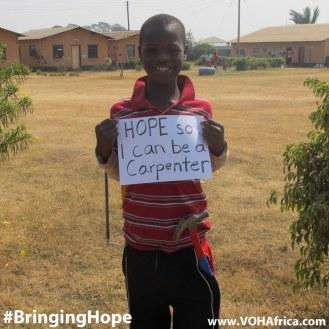 Bringing Hope - be a carpenter