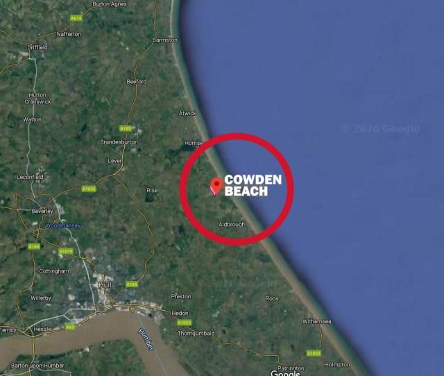 Cowden beach on the Yorkshire coast, near hull.