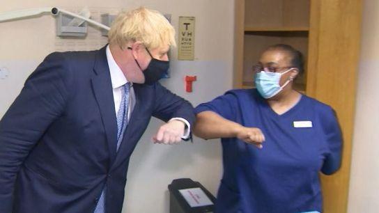 Boris earlier today said anti-vaxers are idiots