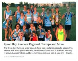 This article about Byron Bay Runners appeared in Voice of Byron: Sport... your club could feature in articles just like this one.