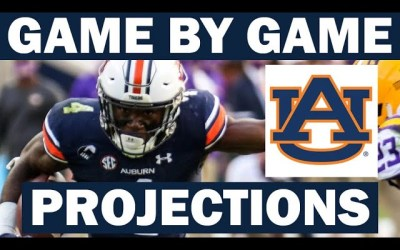 Auburn Win Probabilities for Each Game in 2021