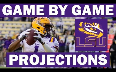 LSU Win Probabilities for Each Game in 2021