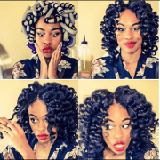amazing curls with flexi rods