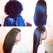 natural hair silk press with tae