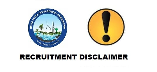 nddc recruitment disclaimer