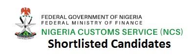 Nigeria Customs Service Shortlist 2020/2021 Out Download PDF