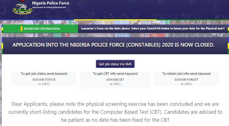 nigeria police shortlist