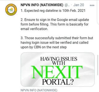 nexit portal date