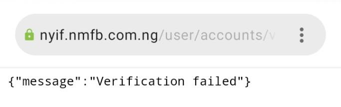 nyif verification failed