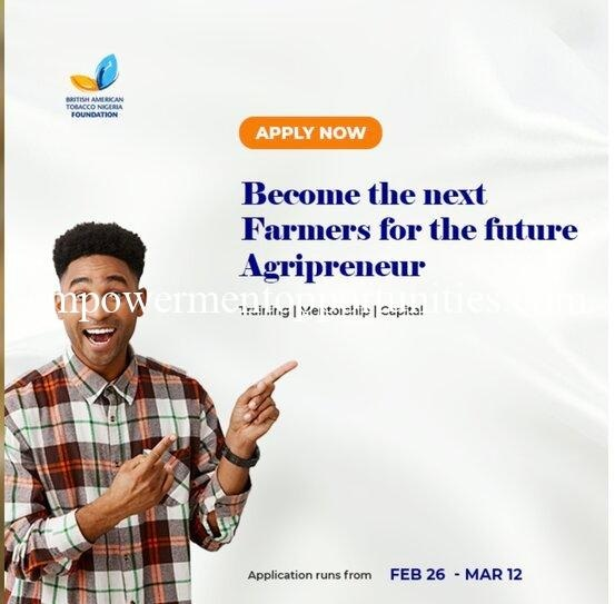 Farmers for the Future (F4F) Grant 2021 Agricultural Entrepreneurship Programme for Nigerians » Voice of Nigeria