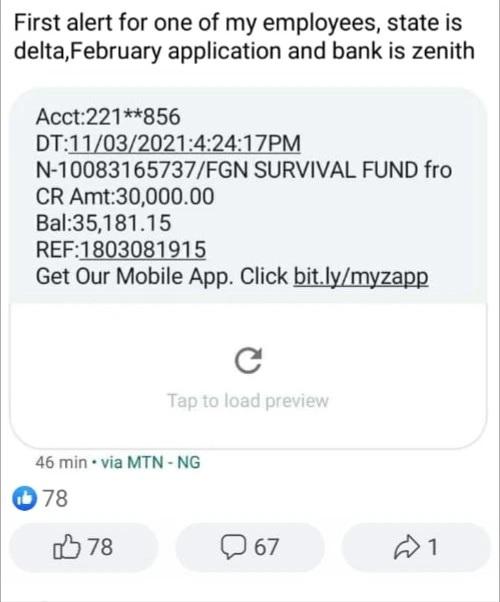 survival fund message