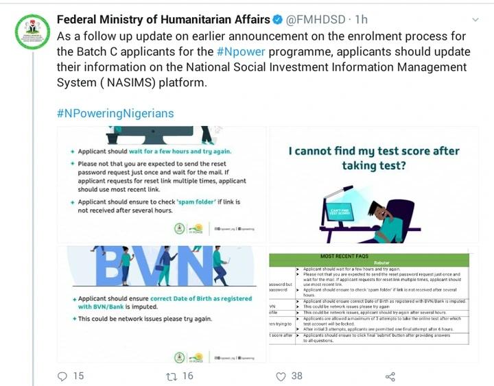 Npower Batch C - FG Gives Fresh Information » Voice of Nigeria