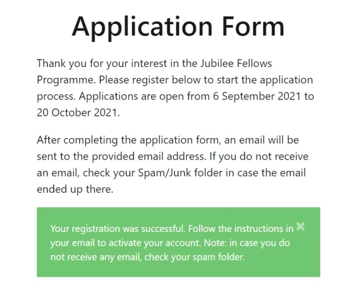 How to Activate Nigeria Jubilee Fellows Programme Account