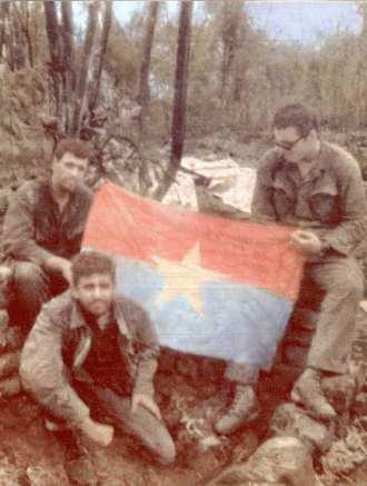 Berardino (bottom left) with squad members in Vietnam.