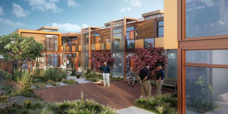 A visualization of the Potter's Lane project, from its developer American Family Housing.
