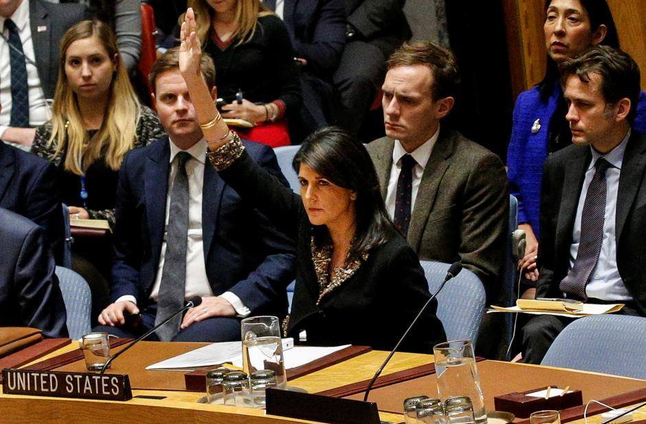 Haley Vetoes Block of Jerusalem Vote