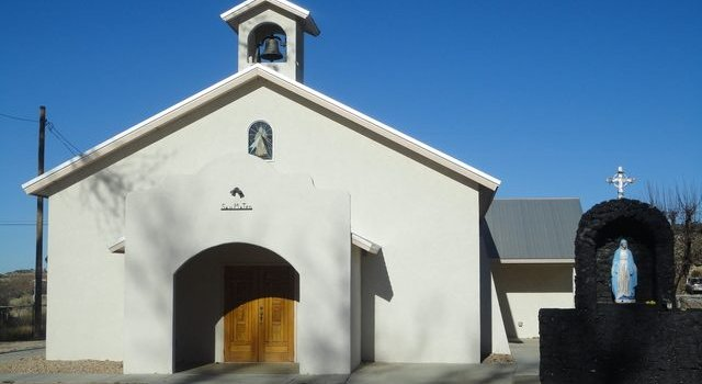 Current church building at San Mateo. via cibolacatholiccommunity.com
