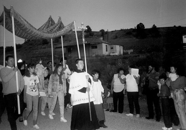 San Mateo feastday procession.