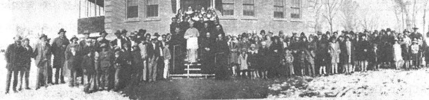 Dedication of St. Thomas School, Farmington 1928.