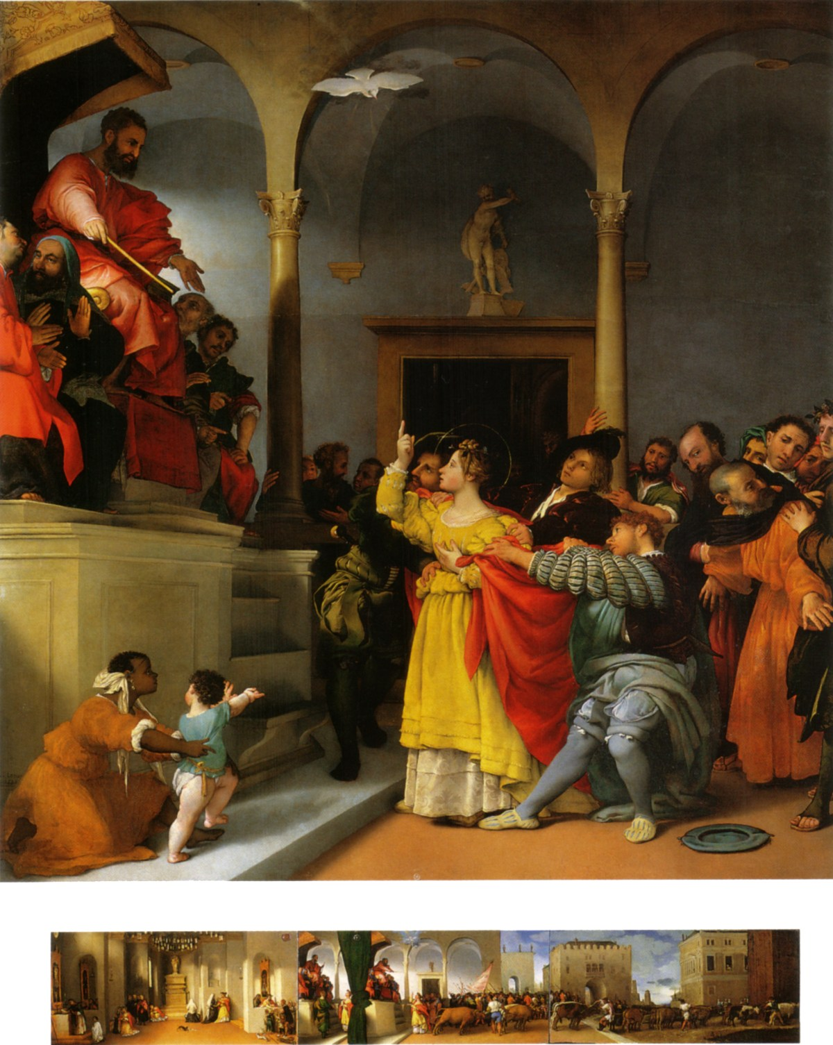 """""""Lucy Before the Judge"""" by Lorenzo Lotto, 1523."""