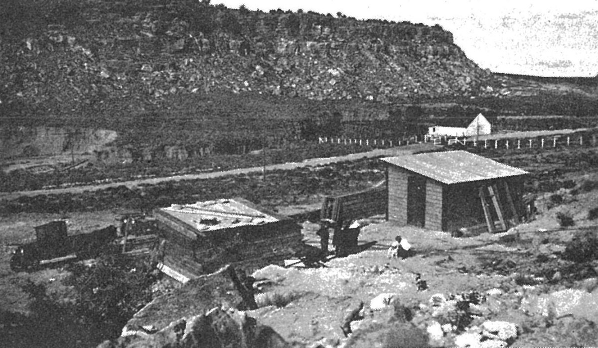 The missionary house at Keams Canyon.