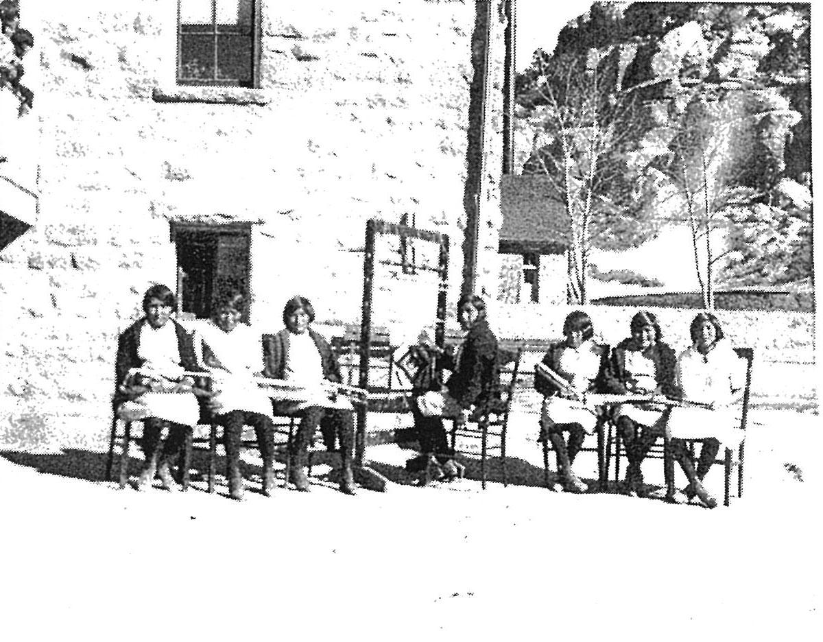 Hopi people at St. Joseph Mission.